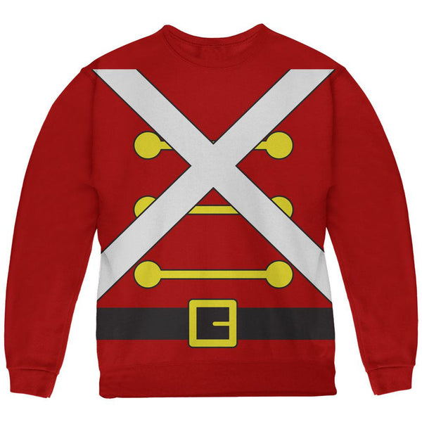 Christmas Toy Soldier Costume Red Youth Sweatshirt