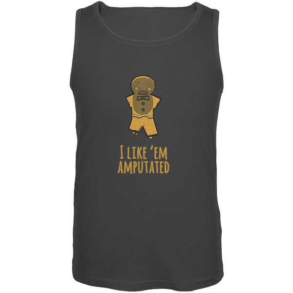 Gingerbread Man I Like Em Amputated Charcoal Grey Adult Tank Top
