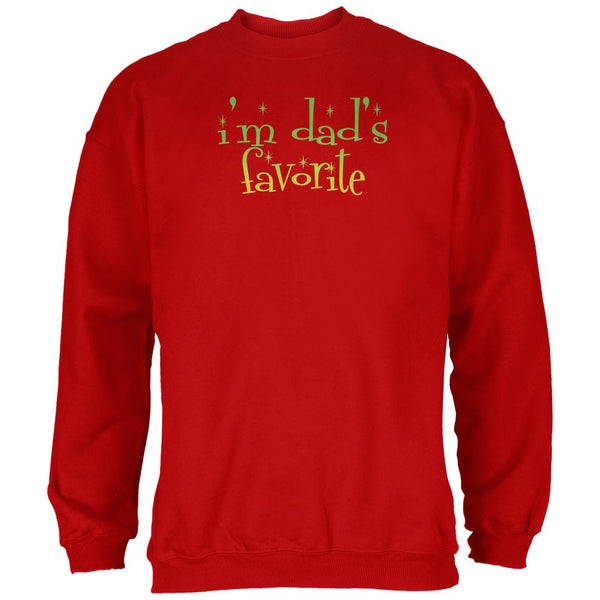 Christmas I'm Dad's Favorite Red Adult Sweatshirt