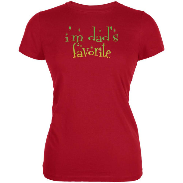 Christmas I'm Dad's Favorite Red Juniors Soft T-Shirt