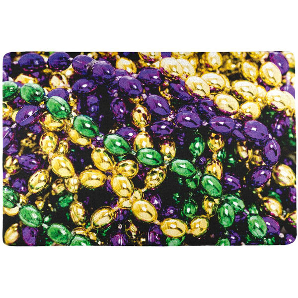 Mardi Gras Beads All Over Placemat (Set of 4)