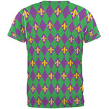 Mardi Gras Fleur De Lis All Over Adult T-Shirt