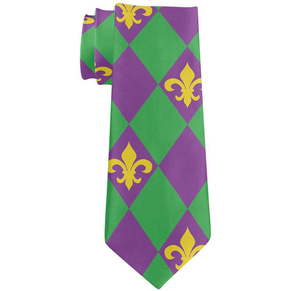 Mardi Gras Fleur De Lis All Over Neck Tie