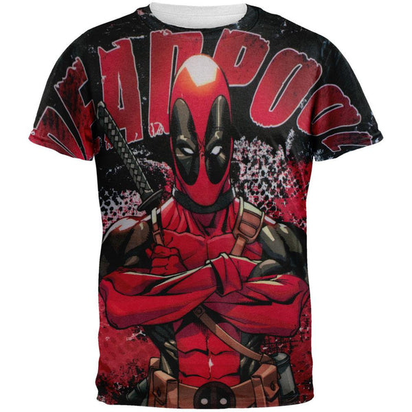Deadpool - Deadly Skills All Over Adult T-Shirt