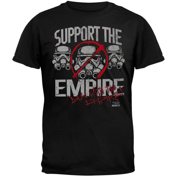 Star War Rebels - Support the Troops Adult T-Shirt