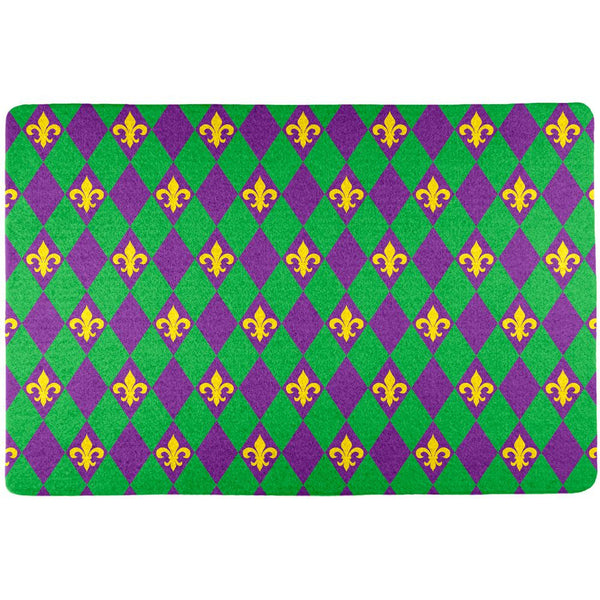 Mardi Gras Fleur De Lis All Over Placemat (Set of 4)
