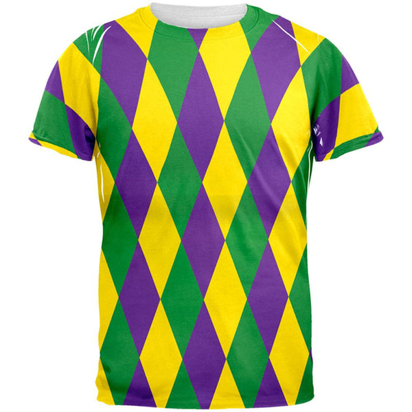 Mardi Gras Jester Costume All Over Adult T-Shirt
