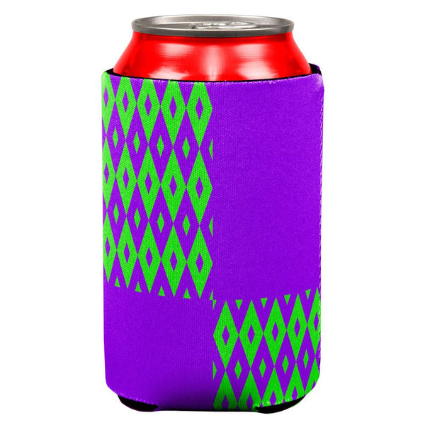 Mardi Gras Party Purple and Green All Over Can Cooler