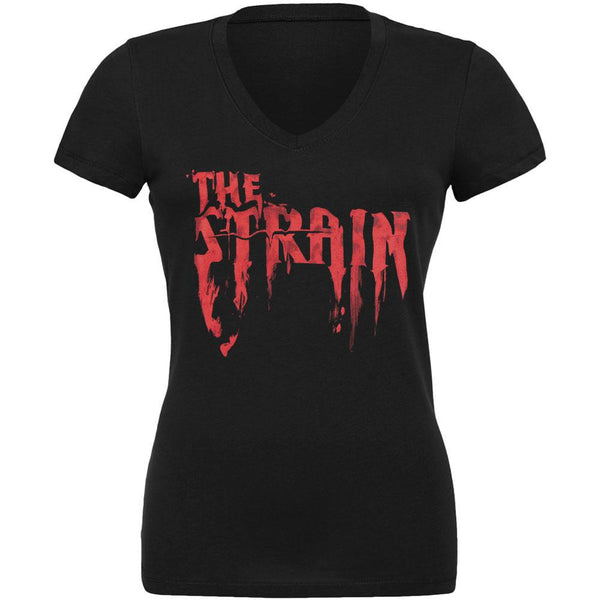 The Strain - Bloody Strain Juniors V-Neck T-Shirt