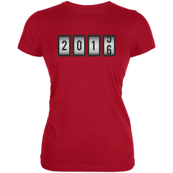 New Years 2016 Slots Red Juniors Soft T-Shirt