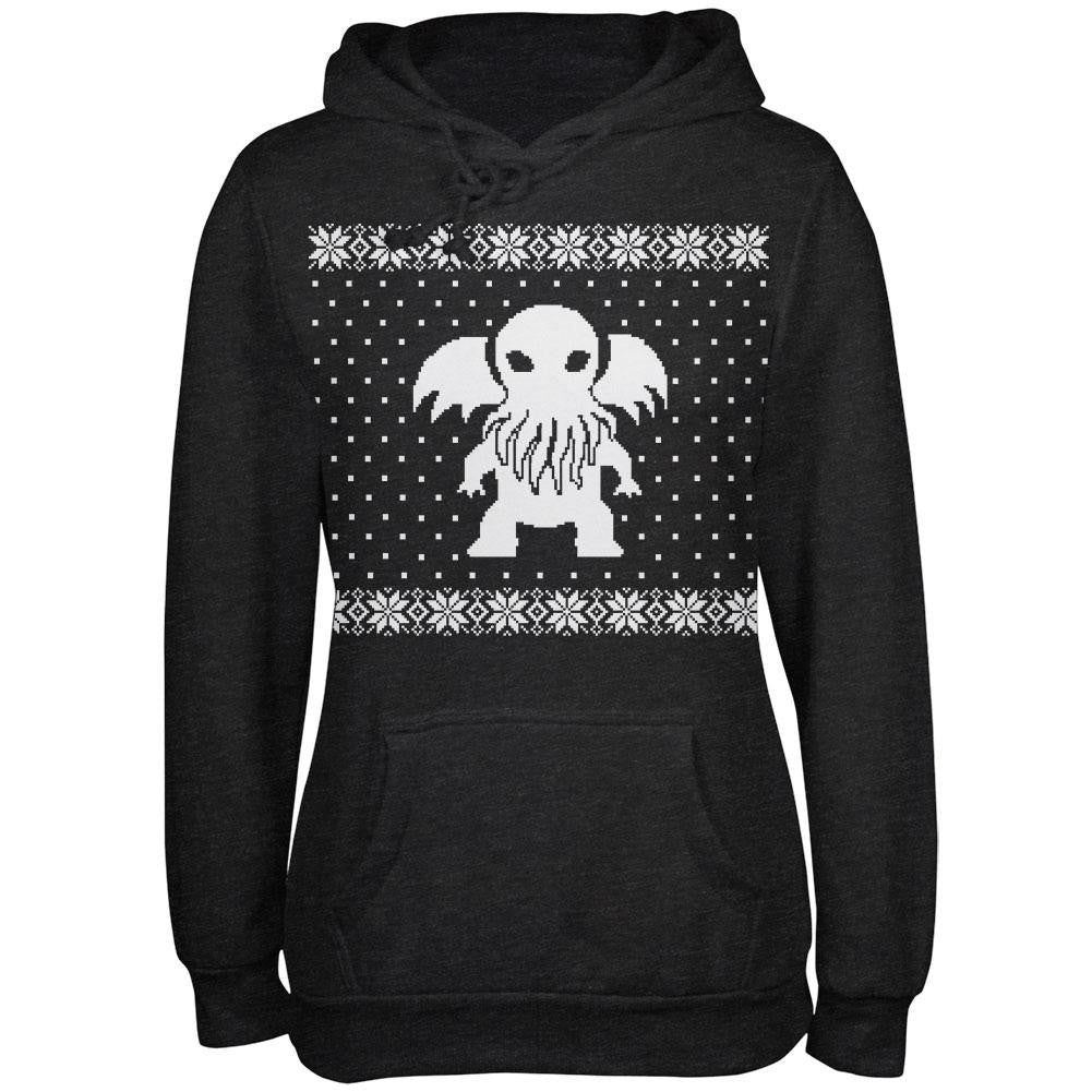 Big Cthulhu Ugly Lovecraft Christmas Sweater Charcoal Heather ...