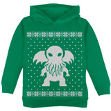 Big Cthulhu Ugly Lovecraft Christmas Sweater Black Toddler Hoodie