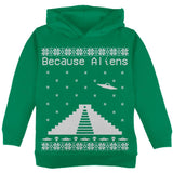 Because Aliens Pyramid Christmas Sweater Black Toddler Hoodie