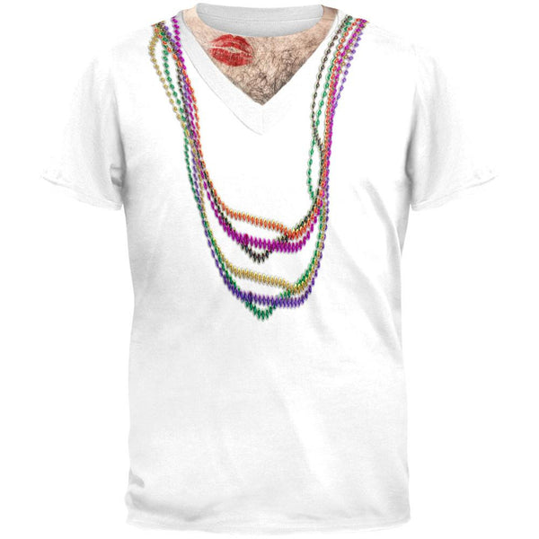 Mardi Gras All Over Adult T-Shirt