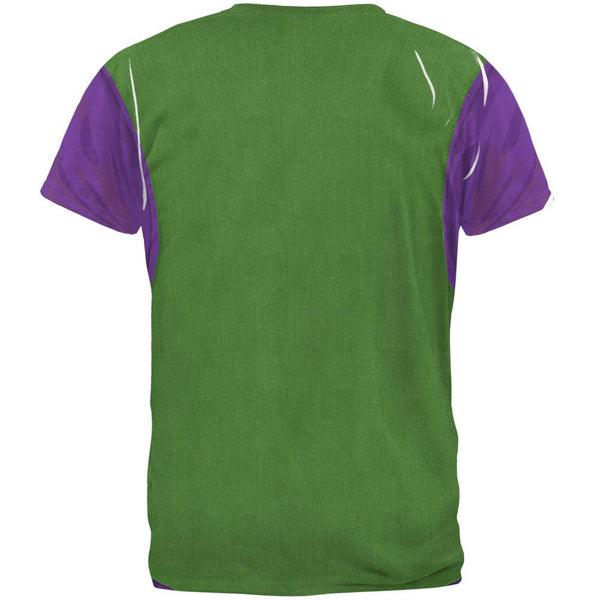Mardi Gras Green and Purple Vest Costume All Over Adult T-Shirt