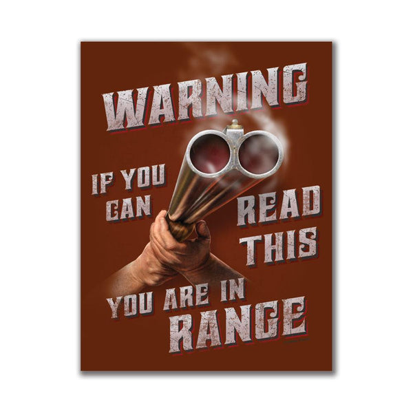 Warning You're In Range 4x3in. Rectangular Decal Sticker