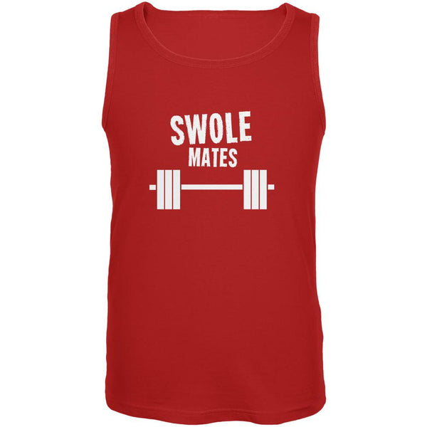 Valentine's Day Swole Mates Red Adult Tank Top