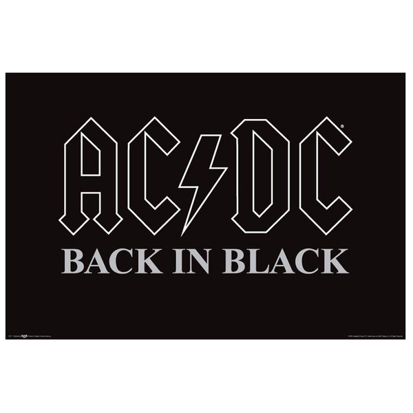 AC/DC - Back in Black 24X36 Standard Wall Art Poster