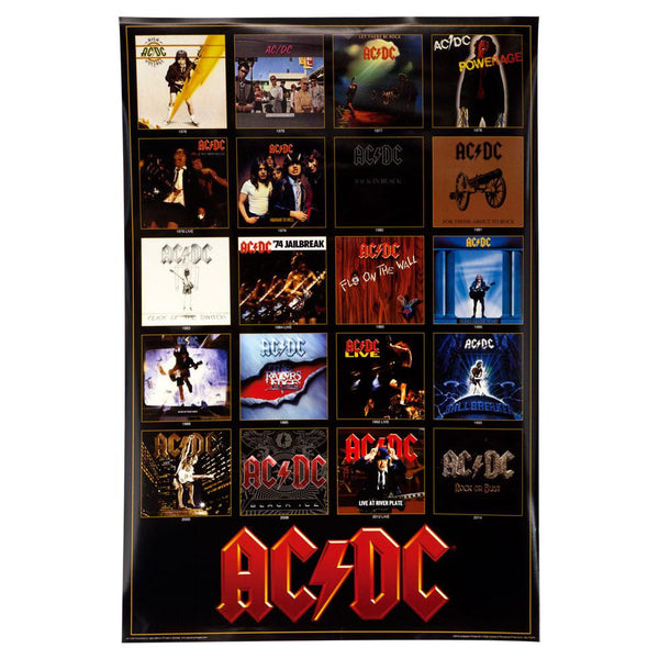 AC/DC - Discography 24X36 Standard Wall Art Poster