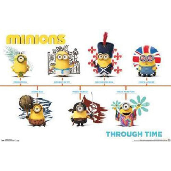 Despicable Me - Minions Through Time 22x34 Standard Wall Art Poster