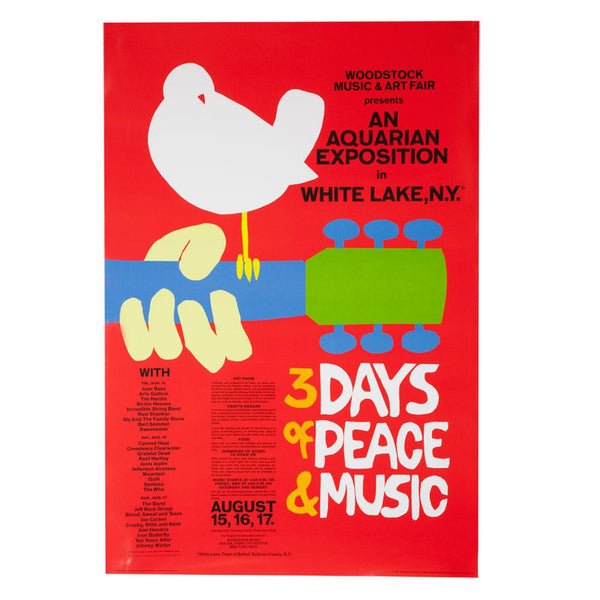 Woodstock - 3 Days of Peace and Music 24X36 Standard Wall Art Poster