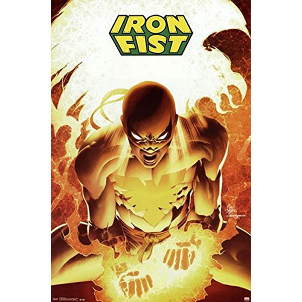 Iron Fist - Flaming Hands 22x34 Standard Wall Art Poster
