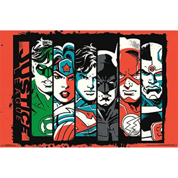 Justice League of America - Bars 22x34 Standard Wall Art Poster