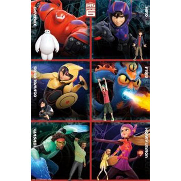 Big Hero 6 - Heroes 22x34 Standard Wall Art Poster