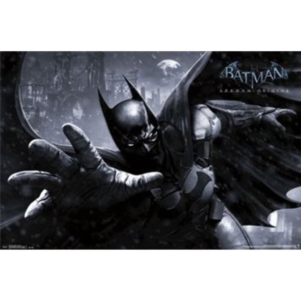 Arkham Batman and Catwoman silk screen fabric poster ...