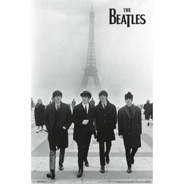 The Beatles - Eiffel Tower 22x34 Standard Wall Art Poster