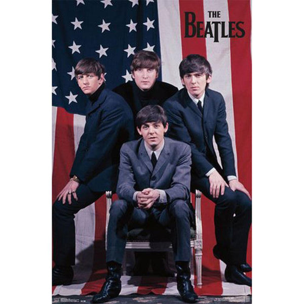 The Beatles - Flag 22x34 Standard Wall Art Poster