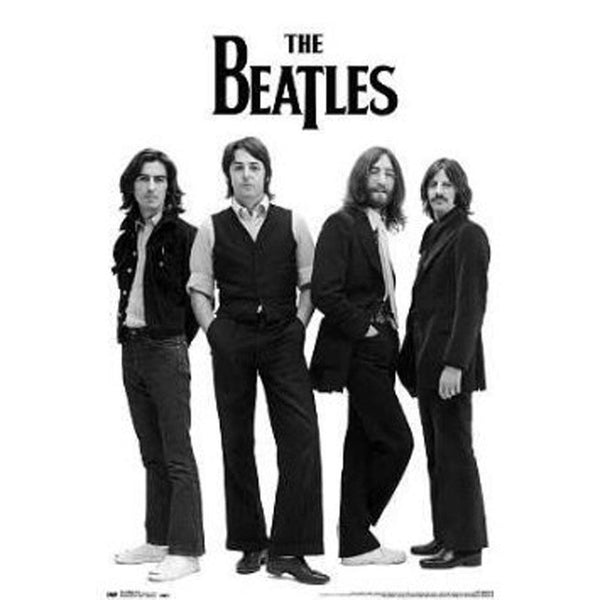 The Beatles - White 22x34 Standard Wall Art Poster