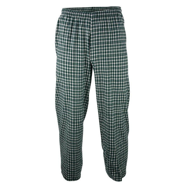 Green Plaid Adult Pajama Pants