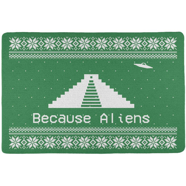 Ancient Aliens Ugly Christmas Sweater Green All Over Placemat