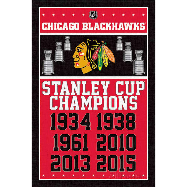Chicago Blackhawks - Champions 24x36 Standard Wall Art Poster
