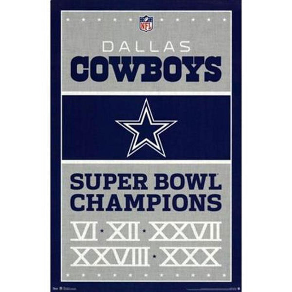 Dallas Cowboys - Champions 24x36 Standard Wall Art Poster