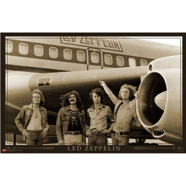 Led Zeppelin - Airplane 24x36 Standard Wall Art Poster