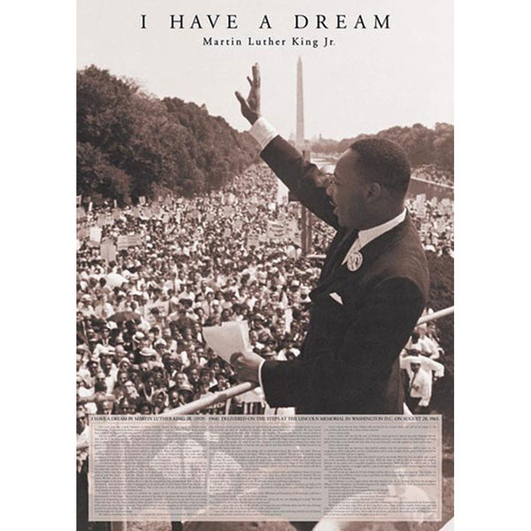 Martin Luther King - I Have a Dream 24x36 Standard Wall Art Poster
