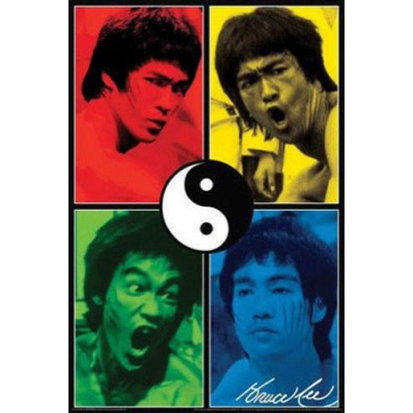 Bruce Lee - Color Quad 24x36 Standard Wall Art Poster
