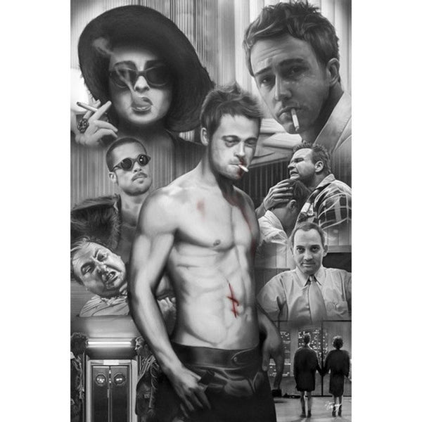 Fight Club - Collage 24x36 Standard Wall Art Poster