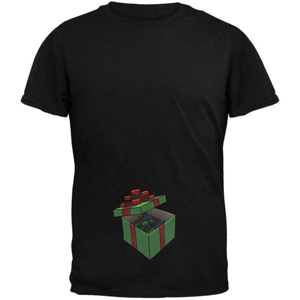 Box In A Box Christmas Gift Black Adult T-Shirt