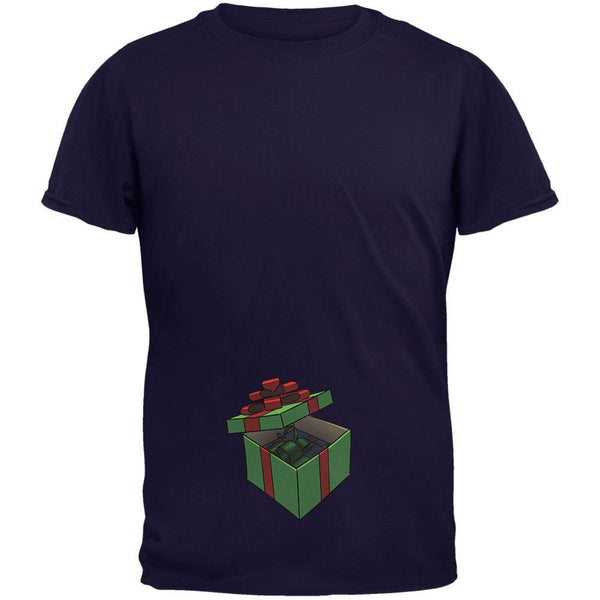 Box In A Box Christmas Gift Navy Adult T-Shirt