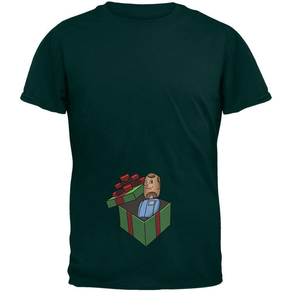 Dick in A Box Christmas Gift Forest Adult T-Shirt