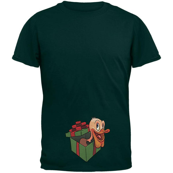 Duck In A Box Christmas Gift Forest Adult T-Shirt