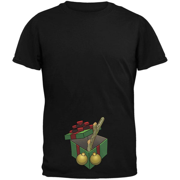Stick In A Box Christmas Gift Black Adult T-Shirt