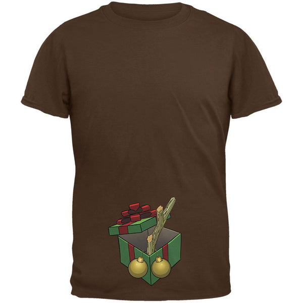 Stick In A Box Christmas Gift Brown Adult T-Shirt
