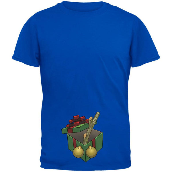 Stick In A Box Christmas Gift Royal Adult T-Shirt