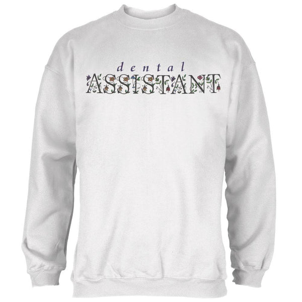 Dental Assistant Floral Logo Adult Sweatshirt