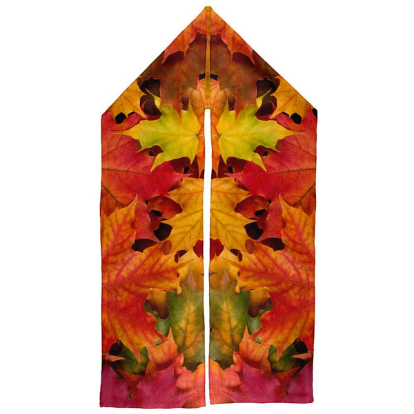 Autumn Fall Color Leaves Warm Fleece Scarf