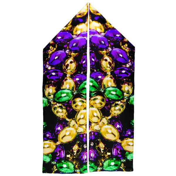 Mardi Gras Beads Warm Fleece Scarf